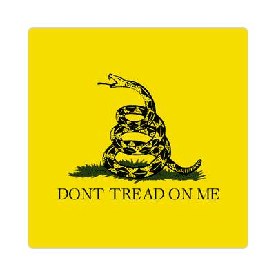 tea party dont tread on me sticker