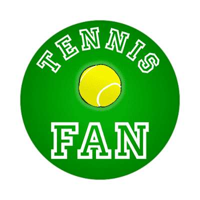 tennis fan sticker
