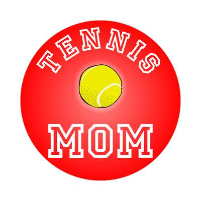 tennis mom sticker