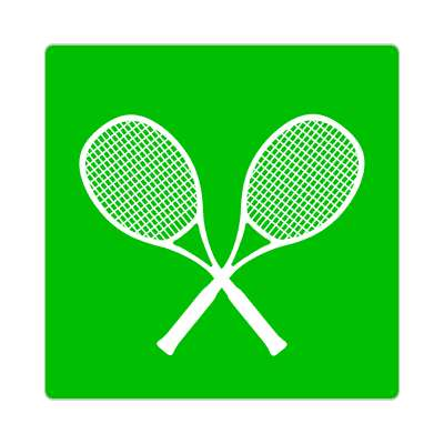 tennis rackets crossed green sticker