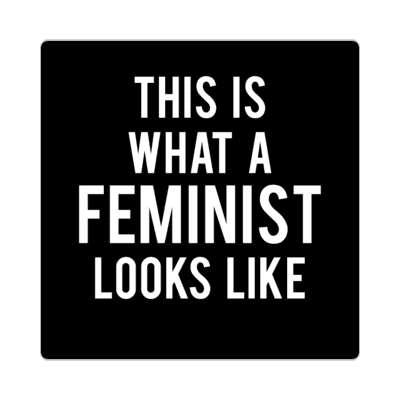 this is what a feminist looks like black sticker