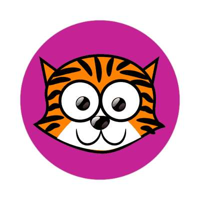 tiger cartoon cute animal sticker