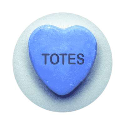 totes valentines day heart candy sticker