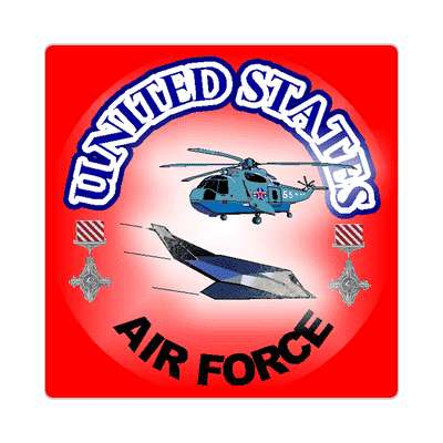us air force helicopter sticker