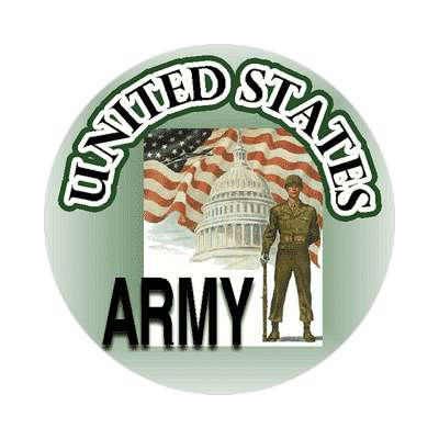 us army soldier capitol building us flag waving sticker