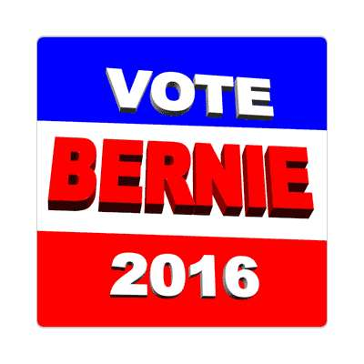 vote bernie 2016 3d sticker