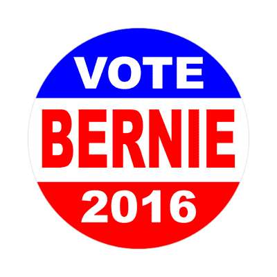 vote bernie 2016 classic red white blue sticker