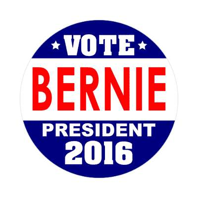 vote bernie 2016 dark blue white sticker