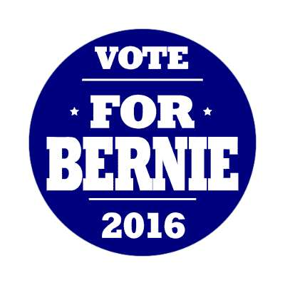 vote bernie 2016 deep blue sticker