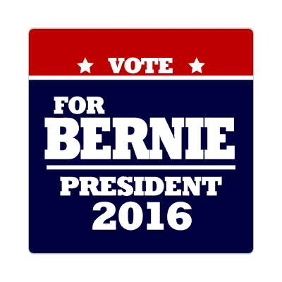 vote bernie 2016 deep red dark blue sticker