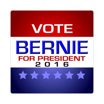 vote bernie 2016 modern classic sticker
