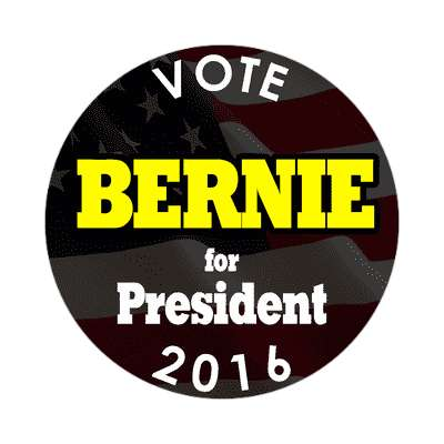 vote bernie 2016 president black sticker