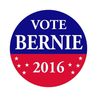 vote bernie 2016 red blue stars sticker