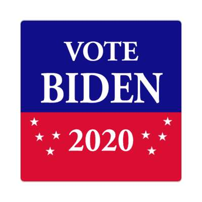 vote biden 2020 red blue stars sticker