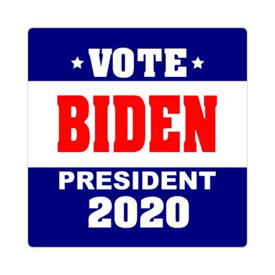 vote biden president 2020 dark blue white sticker