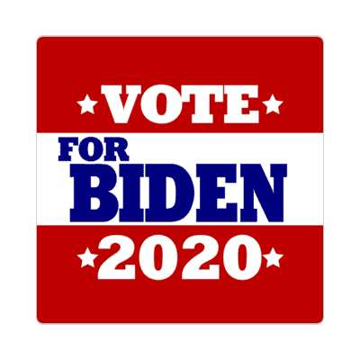 vote for biden 2020 deep red white stars sticker