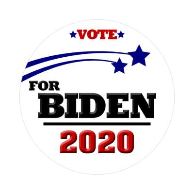 vote for biden 2020 white shooting stars sticker
