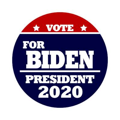 vote for biden president 2020 deep red dark blue sticker