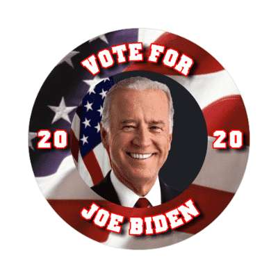 vote for joe biden face us flag 2020 sticker