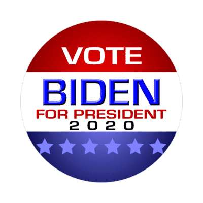 vote for joe biden for president 2020 modern classic sticker