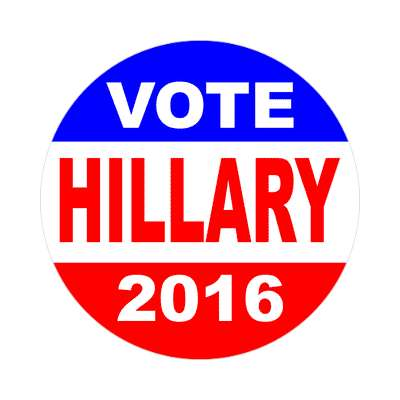 vote hillary 2016 classic red white blue sticker