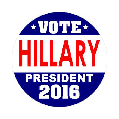 vote hillary 2016 dark blue white sticker
