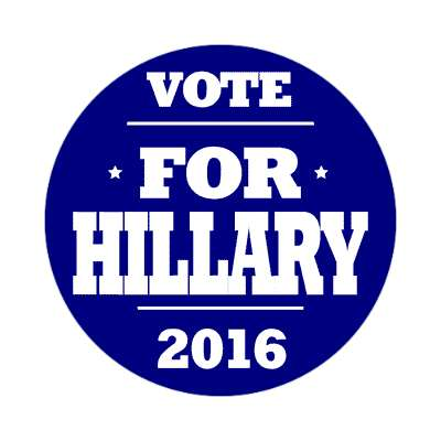 vote hillary 2016 deep blue sticker