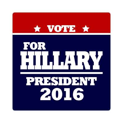 vote hillary 2016 deep red dark blue sticker