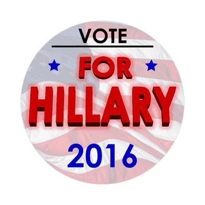 vote hillary 2016 us flag sticker