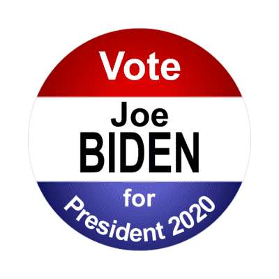 vote joe biden for president 2020 classic red white blue sticker