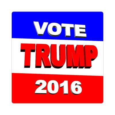 vote trump 2016 3d sticker