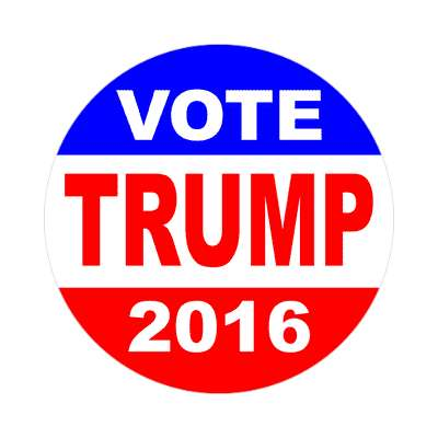 vote trump 2016 classic red white blue sticker
