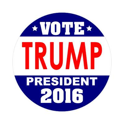 vote trump 2016 dark blue white sticker