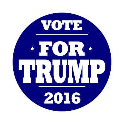 vote trump 2016 deep blue sticker