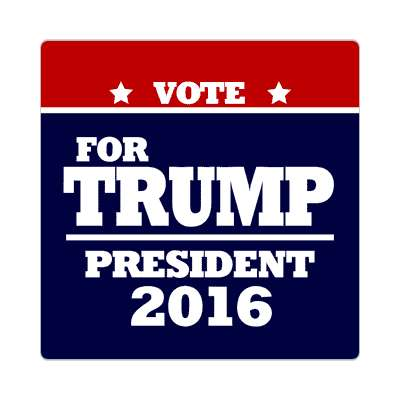 vote trump 2016 deep red dark blue sticker