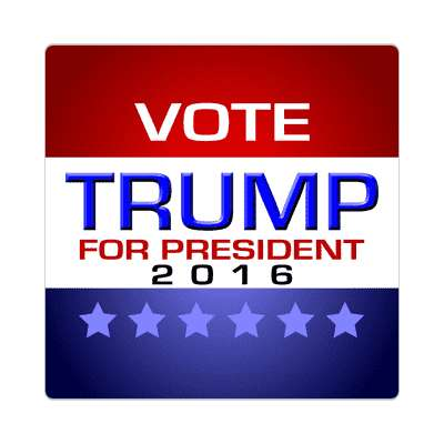 vote trump 2016 modern classic sticker