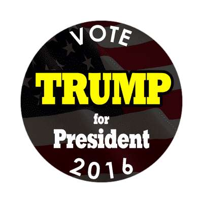 vote trump 2016 president black sticker