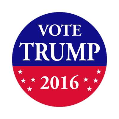 vote trump 2016 red blue stars sticker