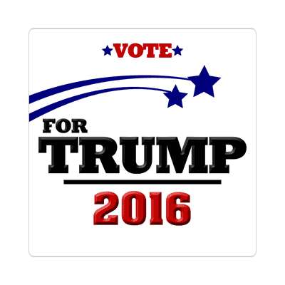 vote trump 2016 white shooting stars sticker
