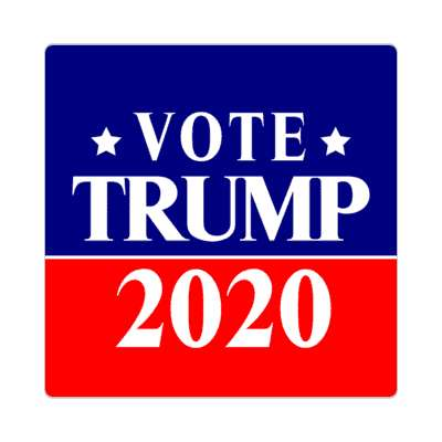 vote trump 2020 dark blue bright red star sticker