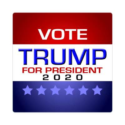 vote trump president 2020 modern classic sticker