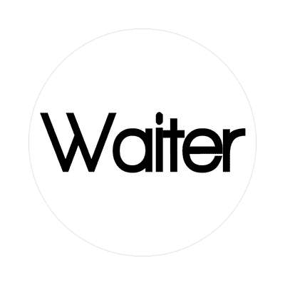 waiter sticker