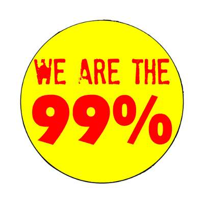 we are the 99 percent stamped yellow magnet