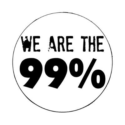 we are the 99 percent white stamped bold magnet