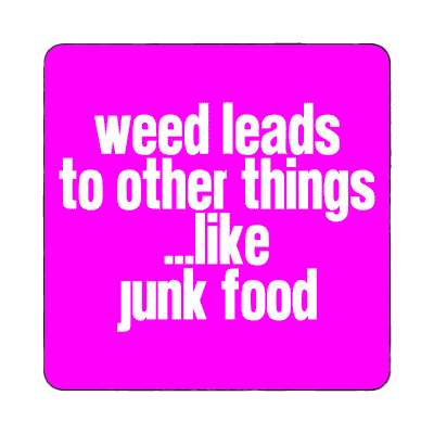 weed leads to other things like junk food magnet