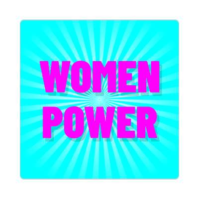 women power rays aqua sticker