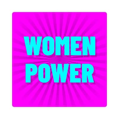 women power rays magenta sticker